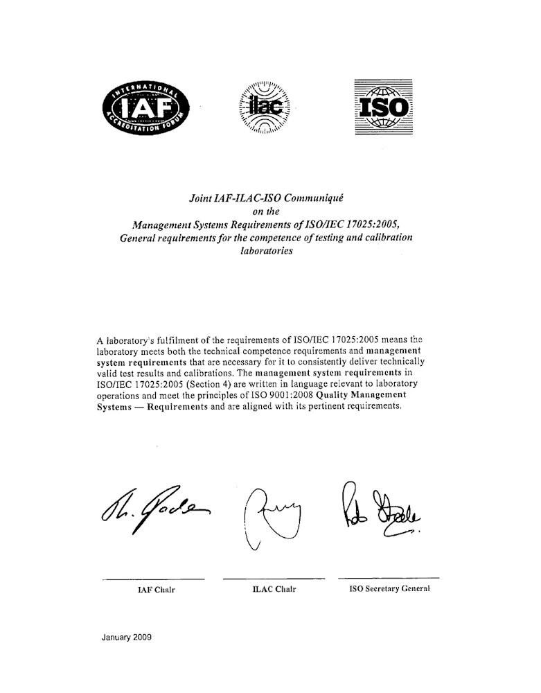 Joint ISO-ILAC-IAF Communique