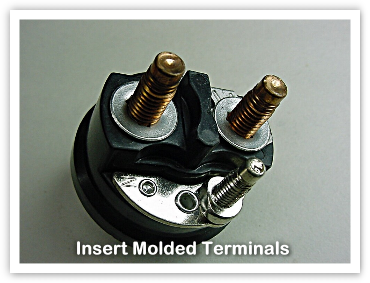 insert molded terminals